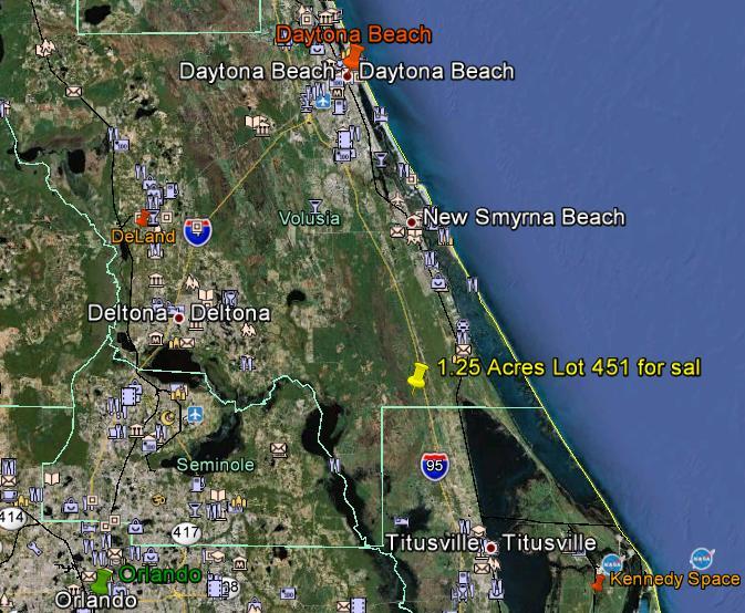 Florida Land 1 25 Acres Fl Lot Near I95 Daytona Beach Area