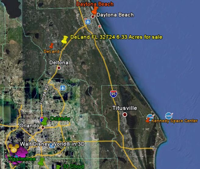 Florida Recreational Hunting Land Deland Daytona