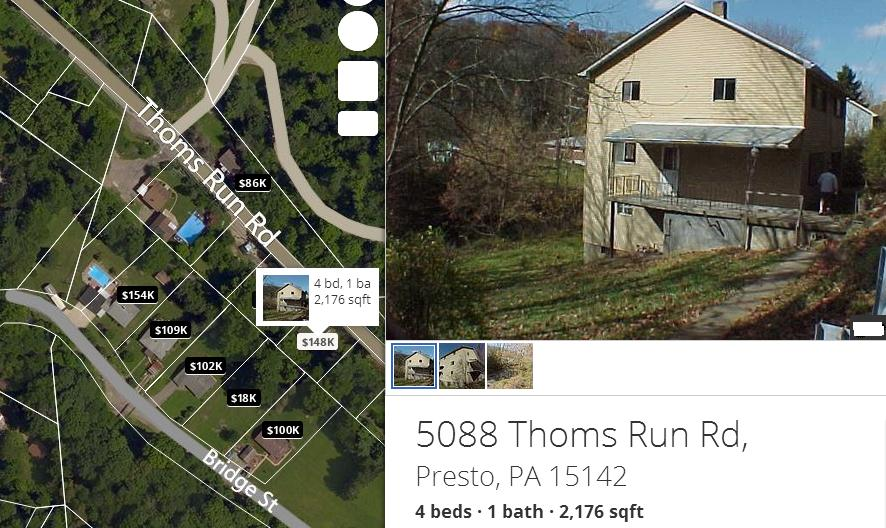 Thoms Run Road Home For Sale Presto PA 15142 Pittsburgh