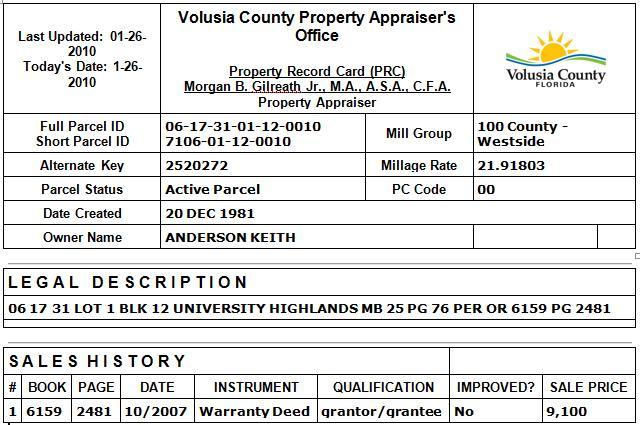 Volusia County, FL Vital Records
