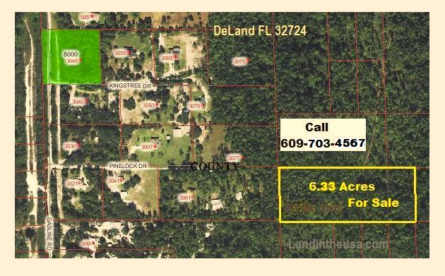DeLand 6.25 Acres for sale Florida